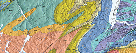 Map of the Day Bedrock Geology Map of the WolfvilleWindsor Area