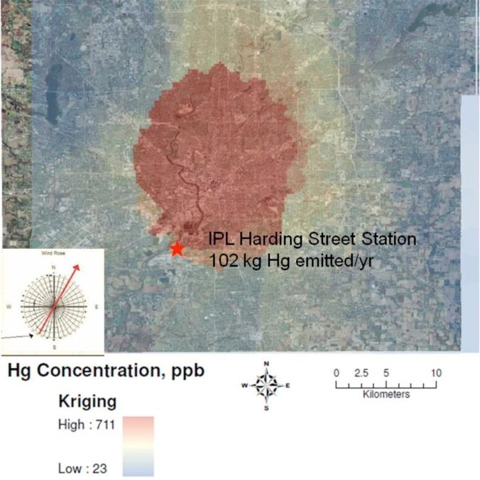 Soil Samples Reveal Urban Mercury Footprints
