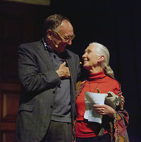 Jack Dangermond, Esri, receives the Jane Goodall Global Leadership Award