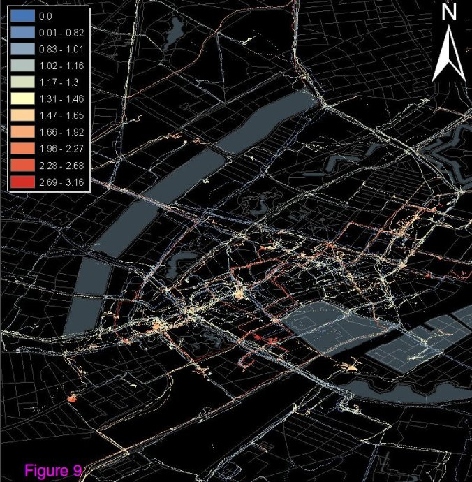 Mobile CO measurements in the city of Copenhagen (December 2009)
