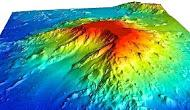 A 3-D map of Turnif Seamount based on newly gathered sonar data. Credit: Christopher Kelley/HURL